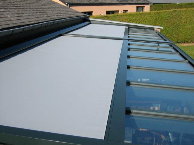 store pour toiture de veranda 2 parties 1moteur ruban jaune. Black Bedroom Furniture Sets. Home Design Ideas